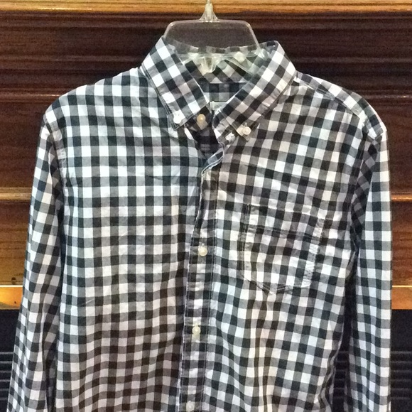 LOOK by crewcuts Boys Long Sleeve Gingham Shirt // J Crew Brand
